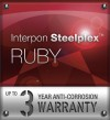 Interpon Steelplex Ruby Warranty Logo
