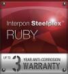 Interpon Steelplex Ruby Warranty Logo