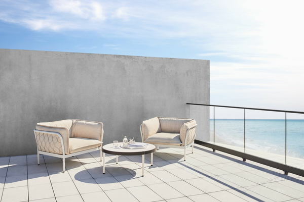 Trace Outdoor Lounge Range by Tait coated in Interpon Textura