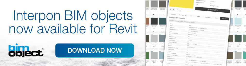 Interpon BIM objects for Revit now available